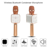 TOSING Karaoke Player Wireless Bluetooth Condenser Microphone Bluetooth 4.0 3.5mm AUX-in with Mic Aluminum Alloy Material KTV Singing Record for Smart Phones Computers Silver
