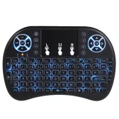 Spanish Version Backlit 2.4GHz Wireless Keyboard Air Mouse Black