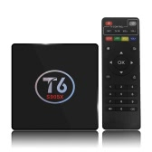 T6 Android 6.0 TV Box Amlogic S905X Quad Core de 64 bits 2G + 16G H.265 UHD 4K VP9 3D Mini PC WiFi AirPlay Miracast DLNA Enchufe de EE.UU.