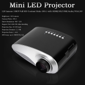Mini LED Projector HD Contrast Ratio 500:1 with HD/SD/USB/Audio/VGA/AV -EU Plug