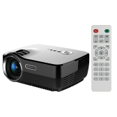 GP70 LED Projector 1200 lumens 10,000 : 1 800 * 480 Pixels 1080P Full HD w/ HD VGA AV USB SD-  EU Plug