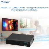 FREE SAT V7 COMBO Full HD 1080P DVB-T2 + S2 Digital Video Broadcasting Receiver Set-up Box Compatible with DVB-S / DVB-T for TV HDTV