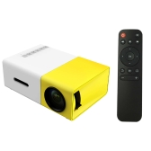 FW1S YG300 LED Projector 400 Lumens 320 * 240 1000 : 1 USB HD AV Micro SD Port-EU Plug