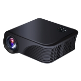 S320 LED Projector 1800 Lumens 800 * 600 Pixels USB HD AV Micro SD-  Black EU Plug