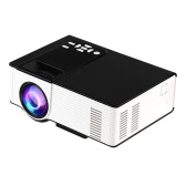 VS314 LED Projector 1500 Lumens Projector 1080P 1200 : 1 USB HD VGA AV - EU Plug Black+White