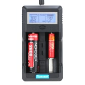 Nokoser 2 Slot Digital LCD Intelligent Smart Battery Charger for Rechargeable AA/AAA Ni-MH Ni-Cd 26650/22650/18650/18500/14500/16340 Li-ion Power Bank
