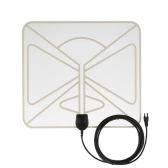 HDTV Antenna-50 Miles Range  Amplified Digital Indoor High Gain Homeworx Antenna -10ft Coax Cable EU Plug Transparent
