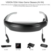 VISION-720A Video Game Glasses Displayer 68-Inch Virtual Screen Support AV-IN for DVD TV BOX US Plug