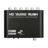 5.1 Audio Rush SPDIF Coaxial to 5.1/2.1 Channel DTS/AC-3 Audio Decoder Surround Sound Rush for STB DVD Player HD Player Xbox 360 US Plug