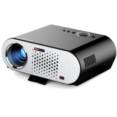 "GP90 Projector Full Color 280"" LED Projector 3200 ANSI Lumens 1280 * 800 Pixel 10000:1 Contrast Ratio with HD IN VGA AV USB Port for Notebook Laptop US Plug"