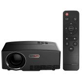GP80 LED Projector 1080P 1800 Lumens 800 * 480 Pixel 2200:1 Contrast Ratio US Plug