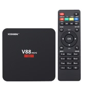 SCISHION V88 Mini III Smart Android TV Box Android 7.1 RK3228 Quad-core 64 Bit 2G/8G Mini PC WiFi & LAN 4K VP9 HDR DLNA Miracast H.265 Media Player