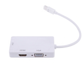 New 1080p Hot-sale Mini Display Port Thunderbolt to DVI VGA HD 3 in 1 Converter Adapter for Apple Mac Book Pro Air iMac