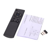 MX6 Portable 2.4G Wireless Remote Control Air Mouse Wireless Voice Remote Controller with USB 2.0 Receiver Adapter for Smart TV Android TV Box Mini PC HTPC