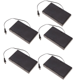 5pcs Battery Storage Case Box Holder for 8×AA Series Lithium Battery with Cover DC Plug and Switch