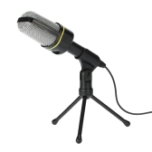 Desktop Microphone with Tripod Professional Podcast Studio Microphone For Laptop/PC (3.5mm Jack/2.1M-Cable) For Recording Vocals & Acoustic Instruments