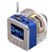 Mini Digital Portable Music MP3/4 Player Micro SD/TF USB Disk Speaker FM Radio Blue