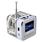Mini Digital Portable Music MP3/4 Player Micro SD/TF USB Disk Speaker FM Radio Silver