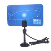 Digital Indoor TV Antenna HDTV DTV HD VHF UHF Flat Design High Gain EU Plug