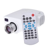 Mini 1080P HD Multimedia LED Projector Home Cinema AV TV VGA USB HDMI TF Video White
