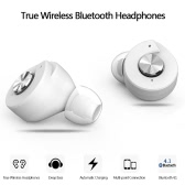 Yuer True Wireless Bluetooth Headphones Bluetooth 4.1 In-ear Stereo Deep Bass Headset  Hands-free with Mic Earphones Power Bank for Business Gym White