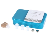 Mini  In-Ear Sound Amplifier Digital Hearing Aid With Carriage Case Kit With Button Batteries Earplugs