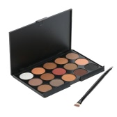 Anself Cosmetic Set Make Up Palette Kit Double-end Brush for Earth Tone Eyeshadow