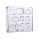 DIY Jewelry Tool Silicone Pendant Mould For Resin Round Oval Square Drop Earring Mould Jewelry Crystal Decoration