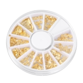 3D Gold Metal Nail Art Tips Marine Organism Pattern Slice DIY Nail Decoration Sticker Mix Designs Nail Art Tools