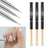 BQAN Nail Art Painting Brush 7mm Crystal Acrylic Nail Art UV Gel Painting Line Brush Nylon Hair Pen Manicure Nail Liner Tool