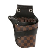 Hair Scissor Holster Hairdressing Bag Pouch Holder for Hair Stylist Rivet Clips Waist Shoulder Belt Included PU Leather