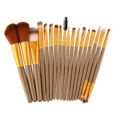 18Pcs Cosmetic Tools Make-up Toiletry Kit Wool Primer Professional Brush Set