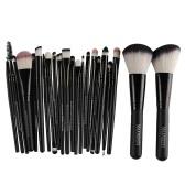 22Pcs / set Ensemble de brosse à maquillage professionnel Outils cosmétiques Ensemble de toilette naturel