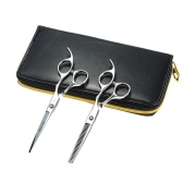 Smith Chu Hair Cutting Set Hair Thinning Scissor Hair Shear Kit Shaving Tool + Comb + 2pcs Hair Scissors for Hairdressing Salon Haircut Tool
