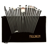20pcs Professional Facial Makeup Brushes Set Eyeshadow Brush Cosmetic Kit Beauty Brushes Tools Purple Foundation Powder Brushes With Flannel Bag Lip Brush Eyeliner