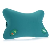 YOMEKO Multifunctional 6 Modes Massage Pillow Home & Car Use Shoulder Pillow for Neck & Head Relaxing Bone-shape Green