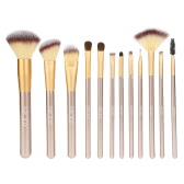 12Pcs Abody Makeup Brush Set Professional Essential Cosmetic Make Up Brushes Kit with White Bag Powder Brush Eyeshadow Eyebrow Eyeliner Brush