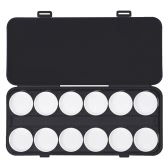 24 Circles Nail Makeup Palette Box 2 Tiers Detachable Cosmetic Eyeshadow Pigment Foundation Powder Mixing Palette Box