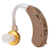 Mini Behind-Ear Digital Sound Amplifier Hearing Aid With Carriage Case Kit  With Earhook Button Batteries Earplugs