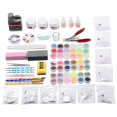 Professional Nail Art Manicure Kits Decoration UV Gel Tool Brush Remover Nail Tips Glue Acrylic Kits DIY Set
