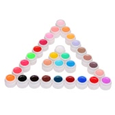 Anself 30pcs Mix Pure Colors UV Nail Gel Polish Extension Professional UV Gel Set Builder Gel for Nail Varnish Nail Art Decorations Tools