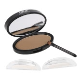 UBUB Brow Stamp Powder Eye Brow Straight United Enhancer With 1 Pair Brow Stamps Brush Mirror #1 Gray