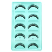 5 Pairs Upper Eyelashes False Eyelash Long Black Thick Fake Lashes Hand-made Natural Soft Eye Lashes Makeup Tool