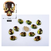 DIY 10pcs Decoration Skull Heads Manicure Gel Nail Art Sticker Patch