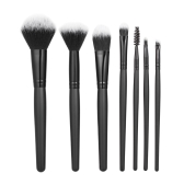 7pcs/pack Makeup Brushes Tool Set Professional Cosmetic Kit Foundation Powder Concealer Blush Eyeshadow Black