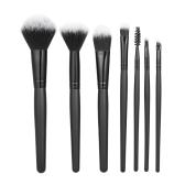 7pcs / pack Szczotki do makijażu Zestaw narzędzi Profesjonalna zestaw do pielęgnacji twarzy Powder Concealer Blush Eyeshadow Black