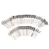 50pcs 45mm Prong Alligator Clips Barrette Boutique Hair Clamps Single Metal Hairpins for Hair Bow/Accessory Silver
