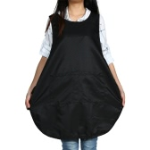 Hairdressing Salon Apron Black Hair Cloth for Hairdresser Haircut Water Resistant Hair Cutting Cape Shampoo Cloth
