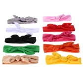 10pcs Colorful Rabbit Ear Shape Baby Girl Hair Band Kids Ribbon Headwear Hair Bandeau