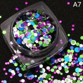 1 Pcs DIY Beauty Nail Tip Craft Decorations Thin Nail Sequins Paillette Glitter Cosmetic Fashion Nail Polish Stickers